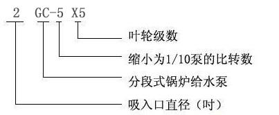 2GC-5X5型锅炉给水泵型号意义