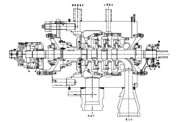 给水泵汽轮机结构图